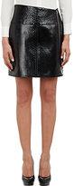 Saint Laurent WOMEN'S PYTHON MINI SKIRT-BLACK SIZE 40 FR