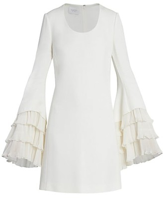 Giambattista Valli Plisse Tiered Crepe Mini Dress