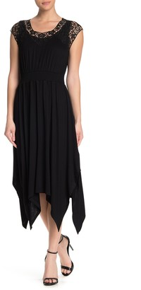 Spense Crochet Yoke Dress