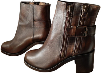 Jonak Brown Leather Ankle boots