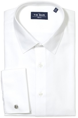 Tie Bar Herringbone Tuxedo White Non-Iron Dress Shirt
