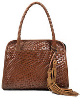 Patricia Nash Woven Collection Paris Tasseled Satchel