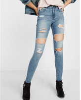 Express high waisted distressed EXP tech jean legging