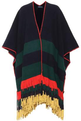 Polo Ralph Lauren Fringed wool poncho