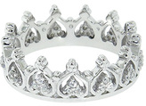 Diamonere Cubic Zirconia & Sterling Silver Elizabeth Crown Ring