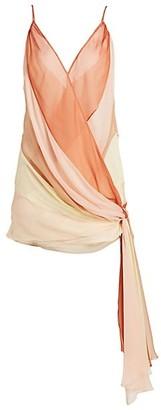 Cinq à Sept Rian Colorblock Side-Tie Mini Shift Dress