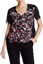 French Connection Midnight Blooms V-Neck Blouse