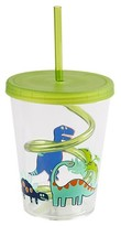 Circo Dinosaurs 15oz. Cup with Swirly Straw Green