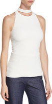 Cushnie et Ochs Cutout-Turtleneck Sleeveless Blouse, Soft White