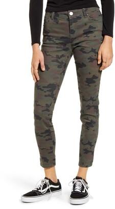 1822 Denim Camo Skinny Ankle Jeans