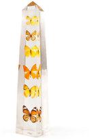 Jonathan Adler Lucite Butterfly Obelisk
