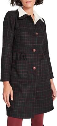 ModCloth Tie-Back Check Coat