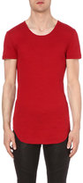Balmain Longline Ribbed Cotton And Wool-blend T-shirt