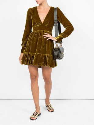 Saloni Textured V-neck Dress