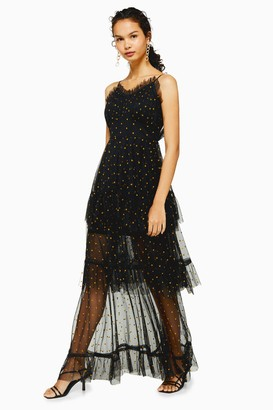 Lace & Beads Womens **Black Long Maxi Dress By Black