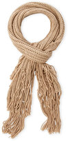 BCBGeneration Skinny Knit Scarf with Fringe Trim