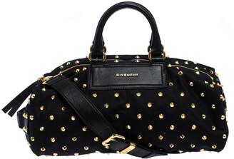 Givenchy Black Studded Nylon Satchel Bag