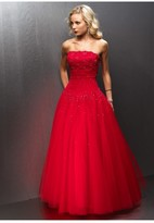 Alyce Paris - Sparkling Strapless Lace Bodice Ball Gown 6564