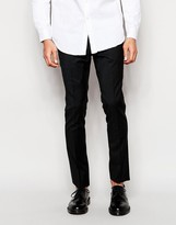 Ps By Paul Smith Wool Trousers In Slim Fit In Black