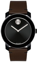 Movado Men's 'Bold' Leather Strap Watch, 42Mm
