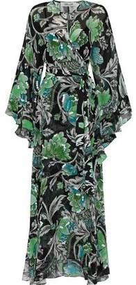 Diane von Furstenberg Lizella Embellished Floral-print Silk-chiffon Maxi Dress