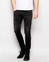 Edwin Jeans Ed-85 Skinny Low Crotch Fit Cs Ink Black Coal Wash