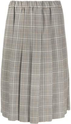 Marni pleated plaid skirt