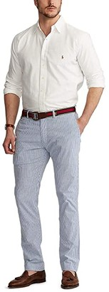 Polo Ralph Lauren Big & Tall Big Tall Straight Fit Bedford Chino Pants (Blue/White Seersucker) Men's Casual Pants
