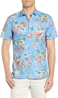 Tori Richard Flower Pressed Regular Fit Sport Shirt