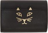Charlotte Olympia Black Mini Feline Wallet