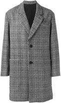 Ami Alexandre Mattiussi plaid notched lapel coat