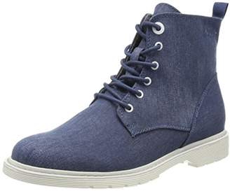 S'Oliver Women's 25475 Combat Boots, Blue (Denim)