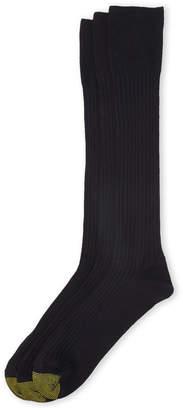 Gold Toe 3-Pack Black Canterbury Socks