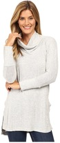 Mod-o-doc Luxe Heather Sweater Slouchy Funnel Neck Pullover