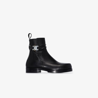 Alyx Black Buckled Leather Chelsea Boots