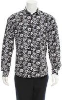 Sand Floral Print Long Sleeve Shirt w/ Tags