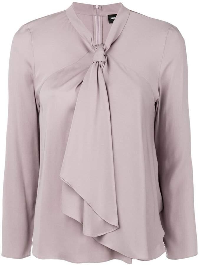 Giorgio Armani pussy bow blouse