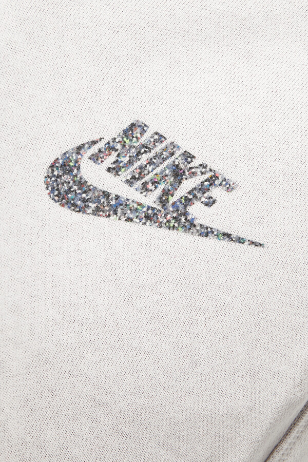 Thumbnail for your product : Nike Sportswear Cotton-blend Jersey Wide-leg Track Pants - Off-white
