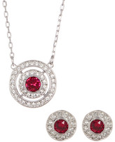 Swarovski Attract Light Bezel Set & Halo Crystal Necklace & Earrings 2-Piece Set