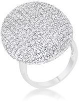 Kate Bissett Cubic Zirconia & Silvertone Round Cocktail Ring