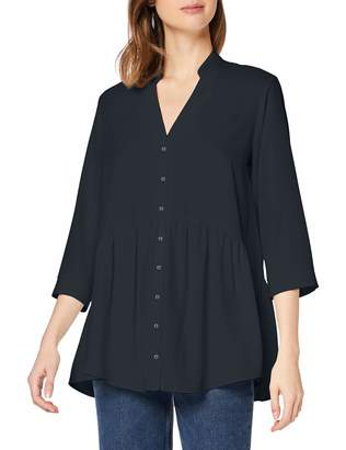 Dorothy Perkins Women's Black Peplum Hem Tunic Top Blouse 22