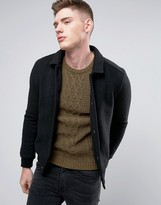 NATIVE YOUTH Knitted Bomber with Canvas Collar