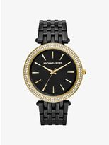 Michael Kors Darci Pavé Black-Tone Watch