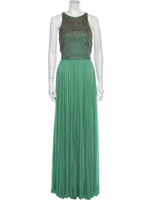 J. Mendel Silk Long Dress w/ Tags Green