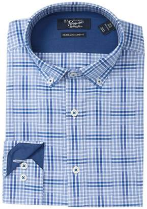 Original Penguin Windowpane Heritage Slim-Fit Dress Shirt