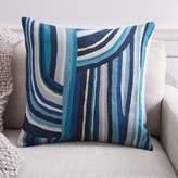 west elm Curvy Stripe Crewel Pillow Cover