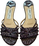 Jimmy Choo Leopard print Leather Flats
