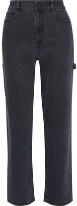 Tibi High-rise Straight-leg Jeans