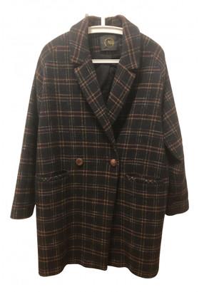 Des Petits Hauts Brown Wool Coats