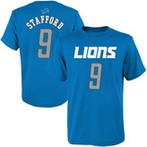 Outerstuff Youth Matthew Stafford Blue Detroit Lions Mainliner Name & Number T-Shirt